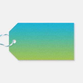 Ombre azul y verde etiquetas para regalos