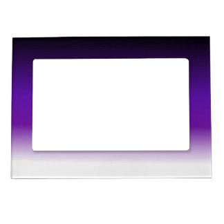 Ombre blanco púrpura negro marcos magneticos para fotos