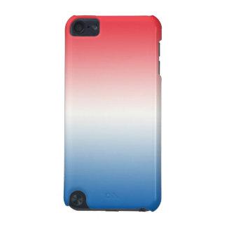 Ombre blanco y azul rojo funda para iPod touch 5G