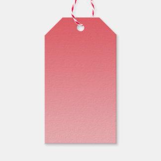 Ombre coralino etiquetas para regalos