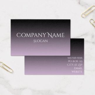Ombre gris y negro de la lavanda tarjeta de visita