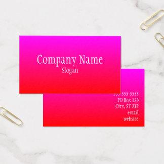 Ombre magenta rojo tarjeta de visita
