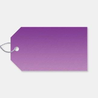 Ombre púrpura etiquetas para regalos