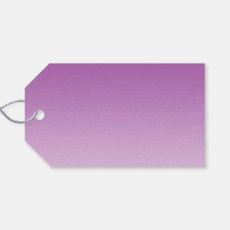 Ombre púrpura suave etiquetas para regalos