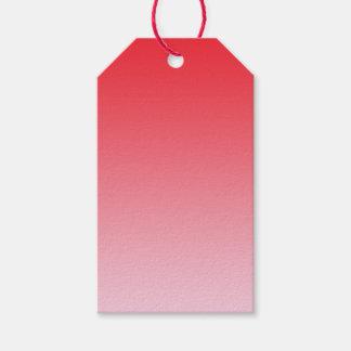Ombre rojo etiquetas para regalos