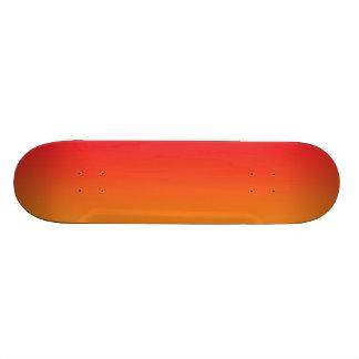 Ombre rojo y anaranjado tablas de skate