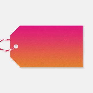 Ombre rosado y anaranjado etiquetas para regalos