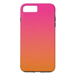 Ombre rosado y anaranjado funda para iPhone 8 plus/7 plus