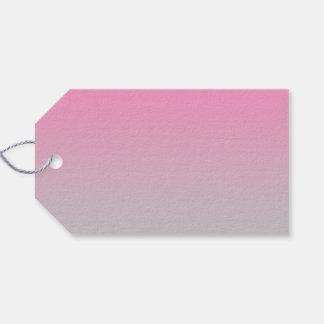 Ombre rosado y gris etiquetas para regalos