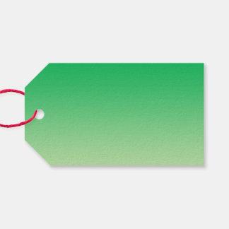 Ombre verde etiquetas para regalos