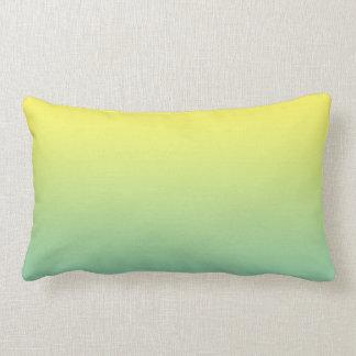 """""""Ombre verde y amarillo"""" Almohadas"""