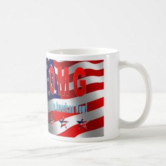 ¡OMG ahora soy un americano! Taza De Café
