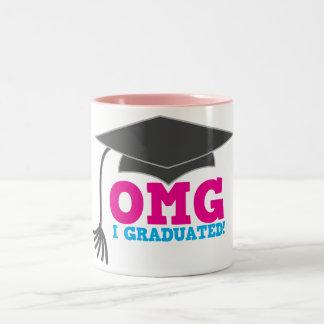 OMG I graduado Taza De Café De Dos Colores