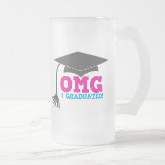 OMG I graduado Taza De Cristal