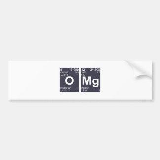 OMG oh mis elementos de tabla periódica de dios Pegatina Para Coche