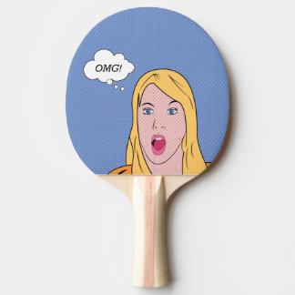 ¡OMG! Retro-estallido Pala De Ping Pong