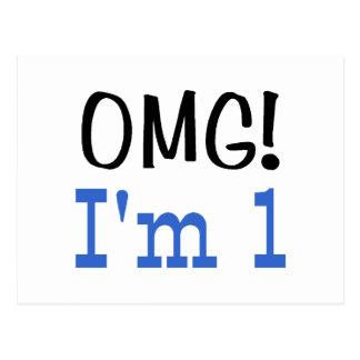 OMG soy 1 (el azul) Tarjeta Postal