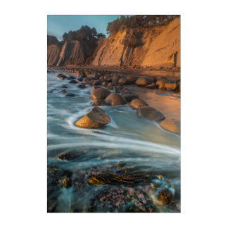 Onda a lo largo de la playa, California Impresión Acrílica