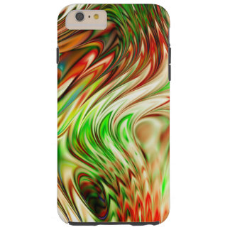 Onda abstracta colorida del arco iris funda resistente iPhone 6 plus