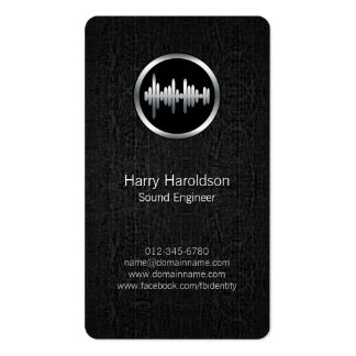 Onda acústica BlackGrunge BusinessCard del Tarjetas De Visita