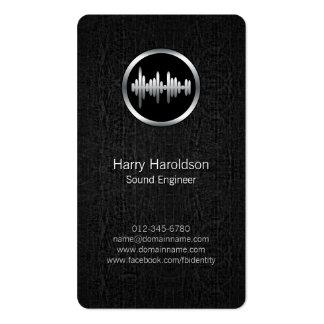 Onda acústica BlackGrunge BusinessCard del Plantillas De Tarjetas Personales