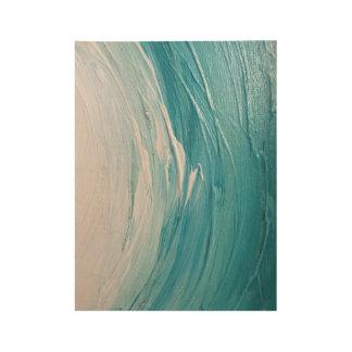 Onda azul de la pintura del océano - impresión de