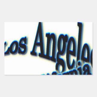 Onda azul de Los Ángeles Pegatina Rectangular