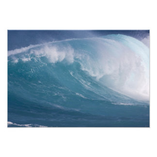 Onda azul que se estrella, Maui, Hawaii, los E.E.U Impresión Fotográfica