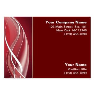 Onda blanca roja plantilla de tarjeta de negocio