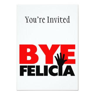 Onda de la mano de Felicia del adiós Invitación 12,7 X 17,8 Cm