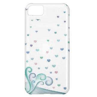 Onda del corazón funda para iPhone 5C