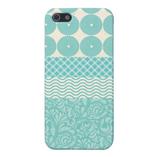 Onda floral de la tela escocesa del trullo de los iPhone 5 cárcasa