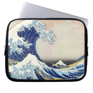 Onda japonesa del arte de Hokusai Funda Para Ordenador