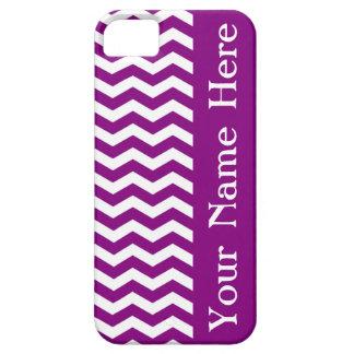 Onda púrpura Chevron de Vina del Mar con nombre iPhone 5 Case-Mate Funda