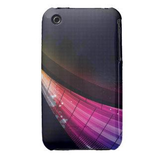 Onda rosada retra iPhone 3 carcasas