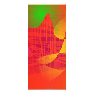 Ondas anaranjadas tarjetas publicitarias a todo color