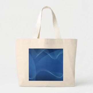 Ondas azules bolsas lienzo