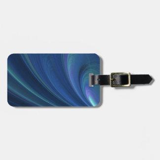 Ondas de arena suaves azules y verdes etiqueta para maletas