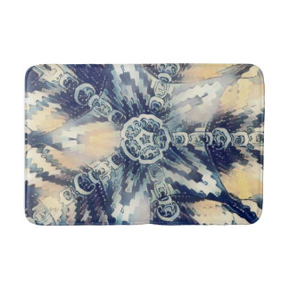 Ondas de la alfombra de baño del agua