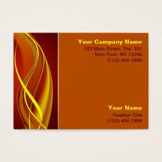 Ondas de la llama tarjeta de negocios