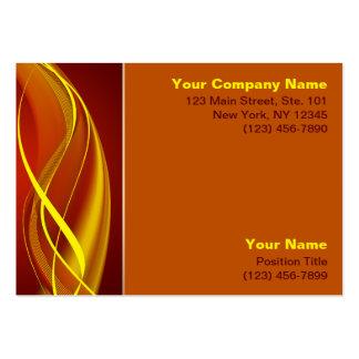 Ondas de la llama plantillas de tarjetas de visita