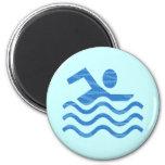 Ondas de la nadada imán de frigorifico