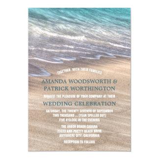Ondas de la playa del vintage e invitaciones del invitación 12,7 x 17,8 cm