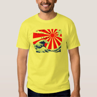 Ondas del japonés camisetas