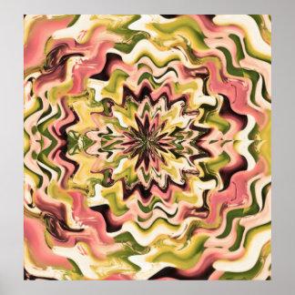 Ondas florales - conceptos de diseño únicos por Na Poster