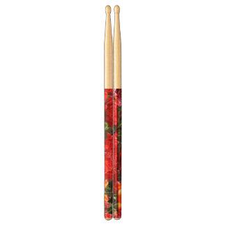 Ondas florales del carmesí de Falln Baquetas De Batería