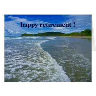 ondas jubiladas grandes tarjeta de felicitación grande