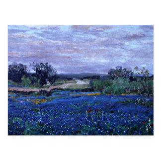 Onderdonk - Bluebonnets en el crepúsculo 1922 Postal