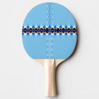 Ondulación azul pala de ping pong