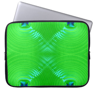 Ondulación verde clara 4 funda para ordenador